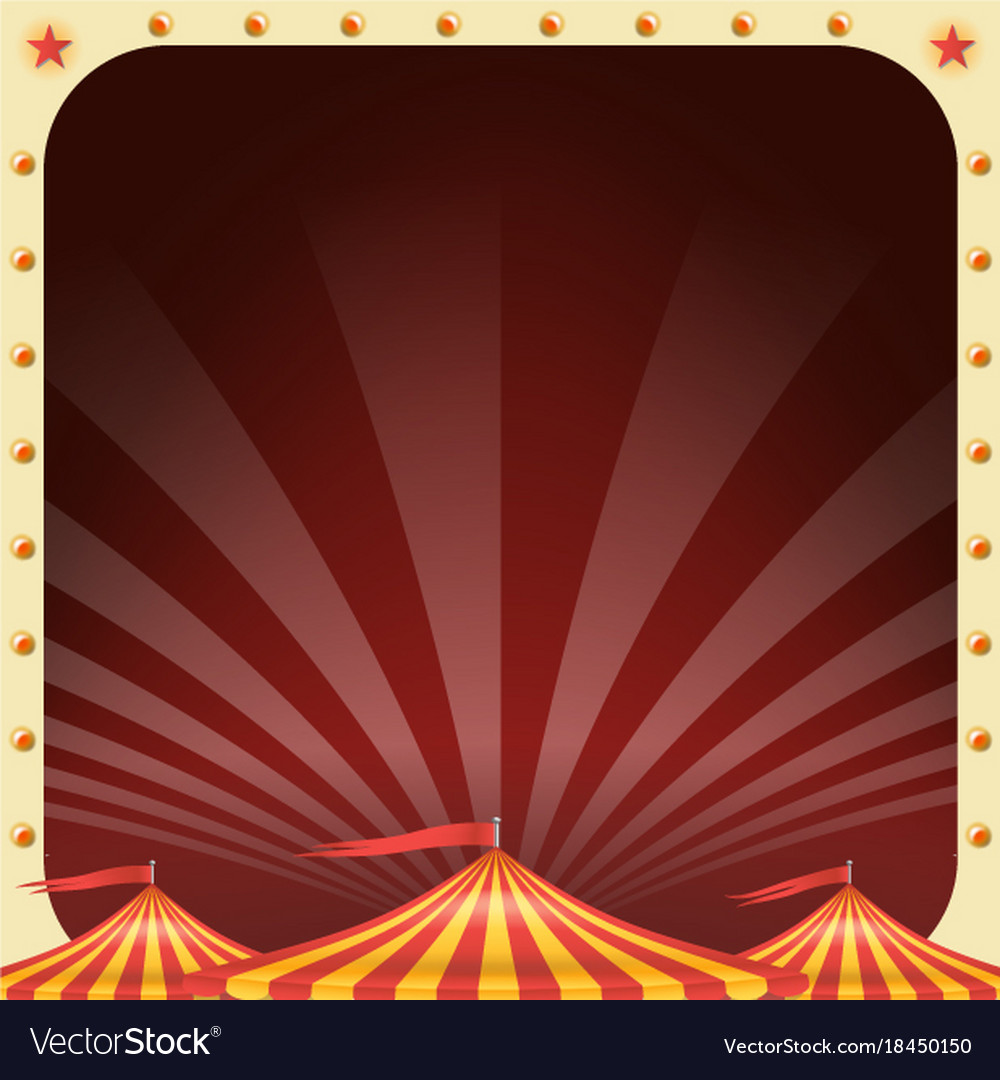 Circus poster circus tent background
