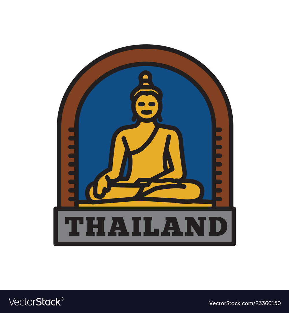 Country badge collections thai symbol of big