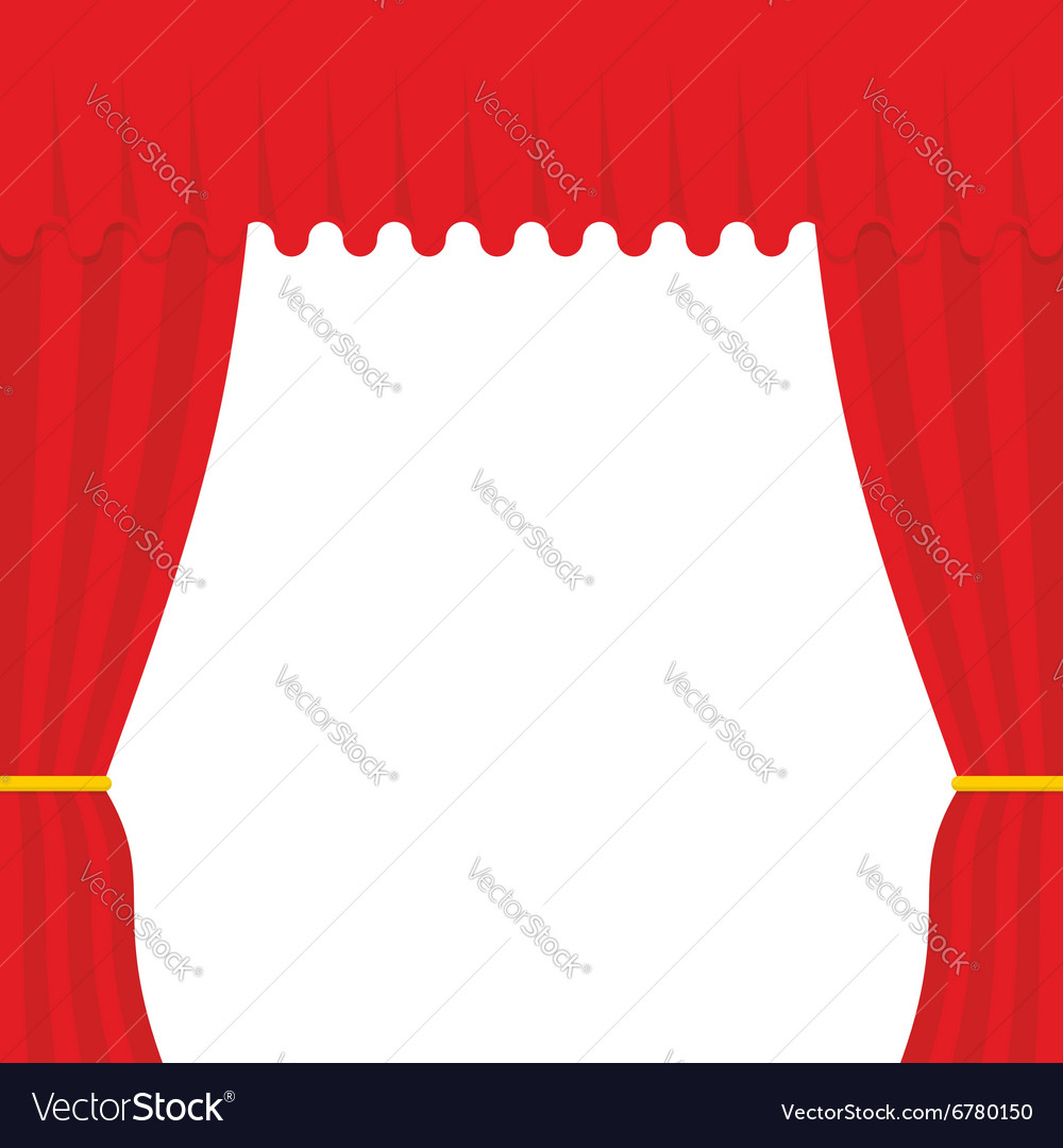 Empty scene Red Curtain outdoor Theatre curtain