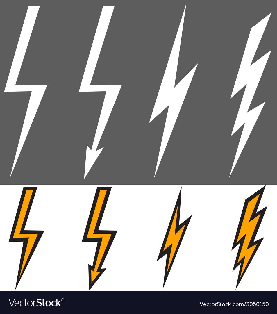 Flat lightning signs