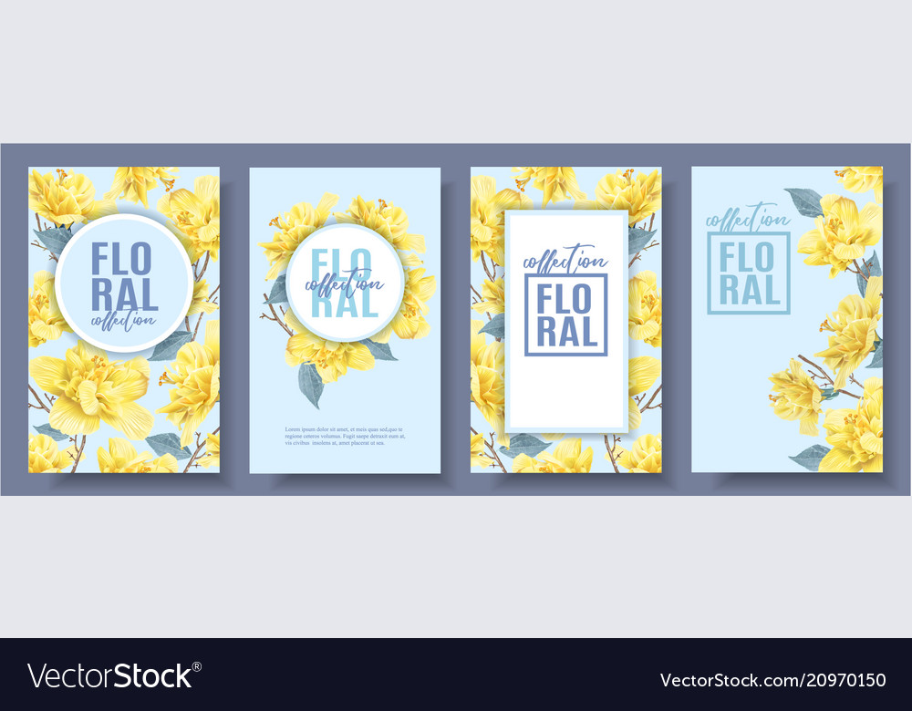 Flower banners set