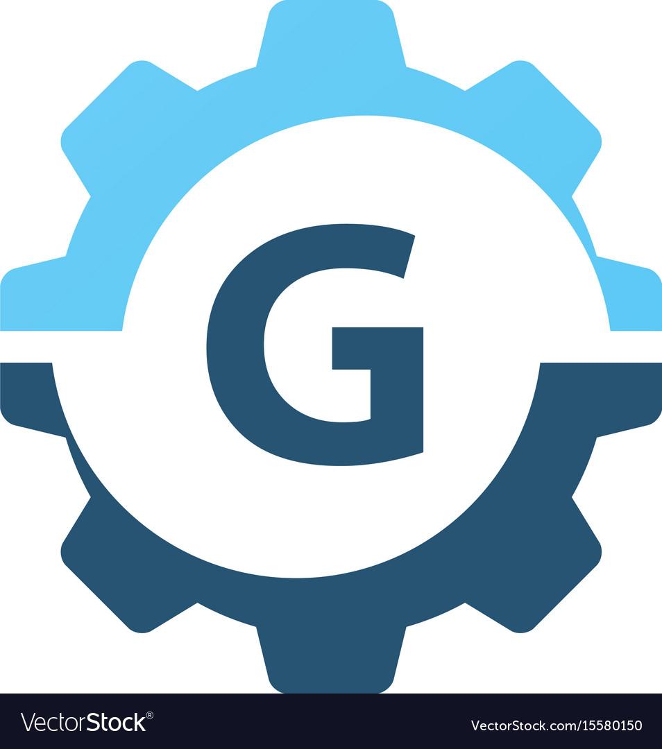 Gear solution logo initial g