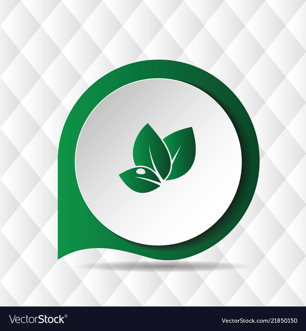 Green leave icon geometric background image