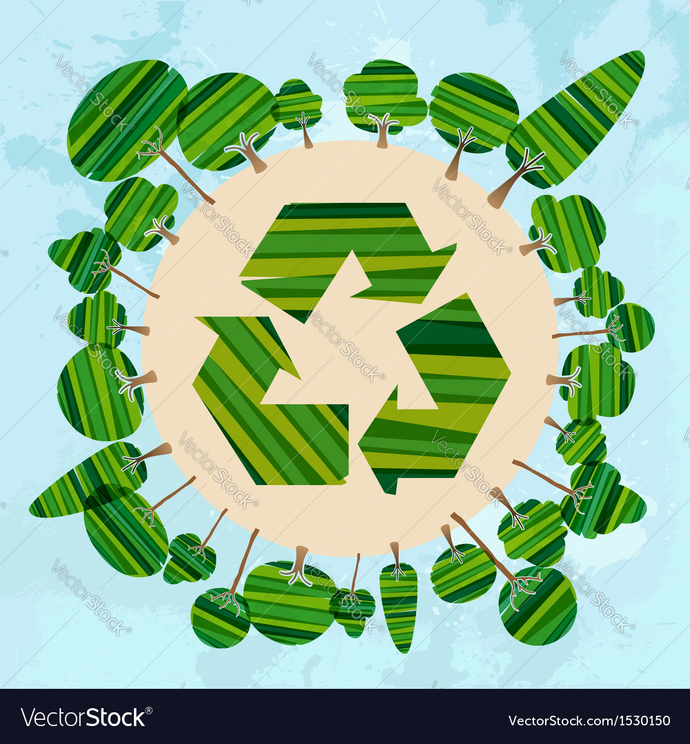 Green tree Earth vector image