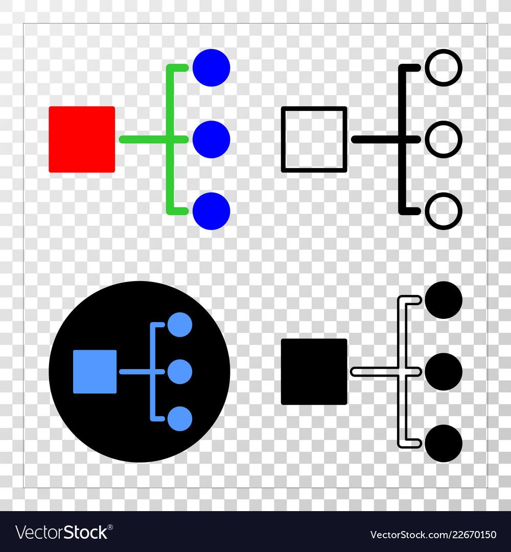 Hierarchy eps icon with contour version