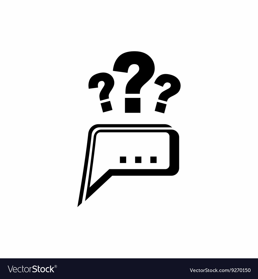 Question icon simple style