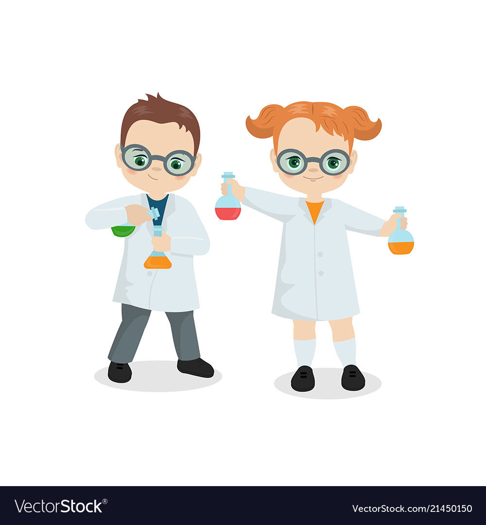 scientist kids scientist kids royalty free vector image https www vectorstock com royalty free vector scientist kids scientist kids vector 21450150