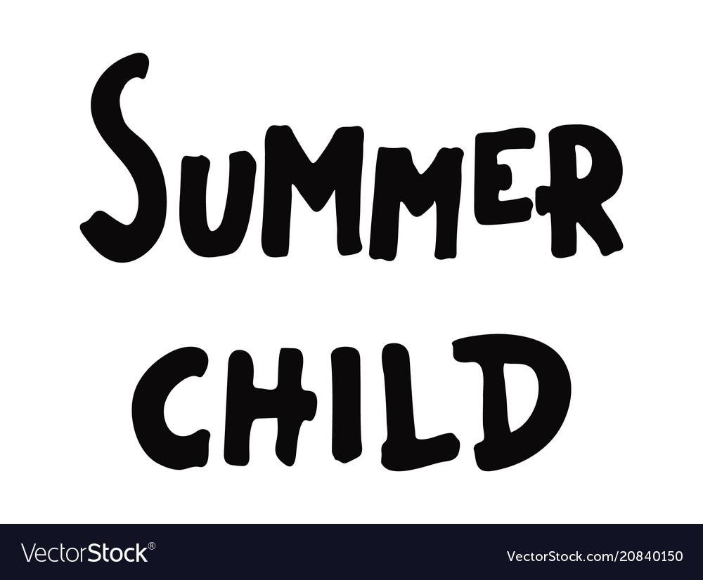 Summer child poster
