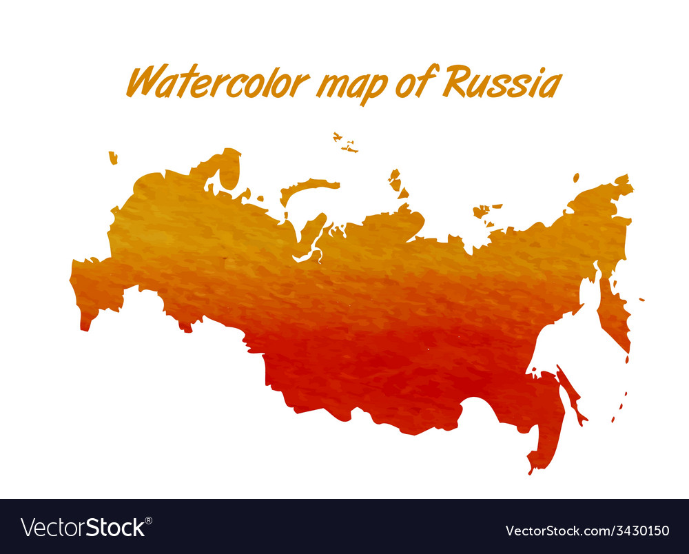 The contour map of the Russian Federation Vector Image