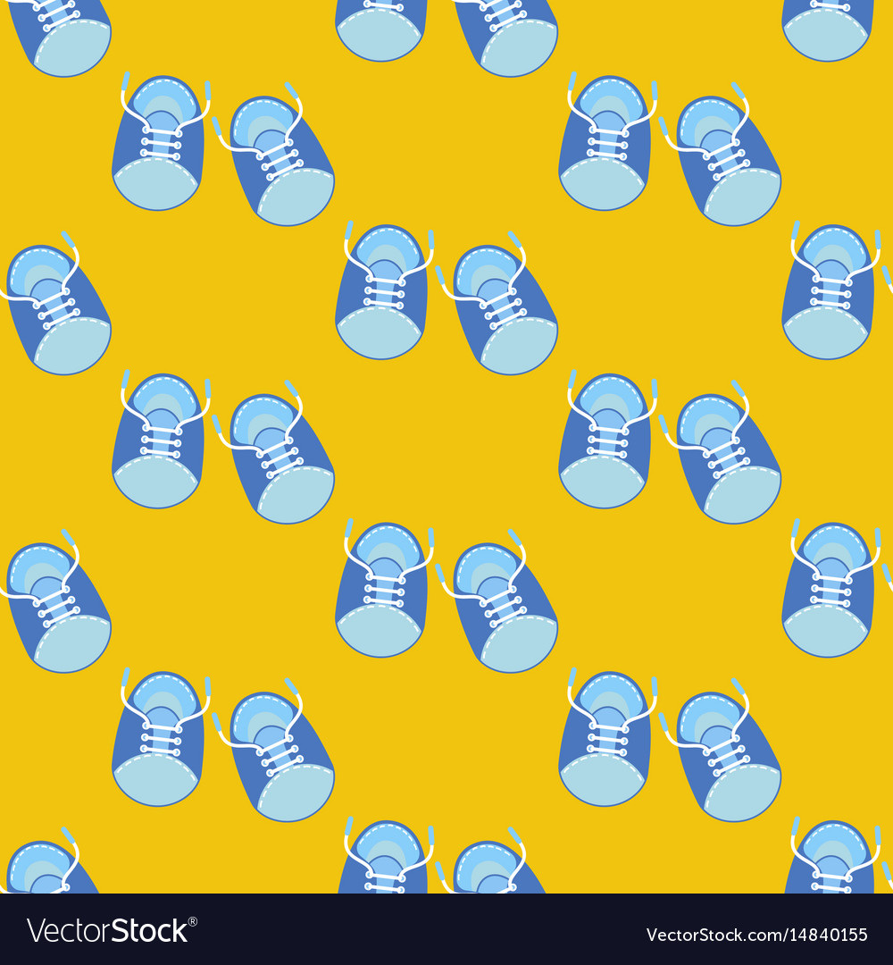 Baby boy shoes seamless pattern