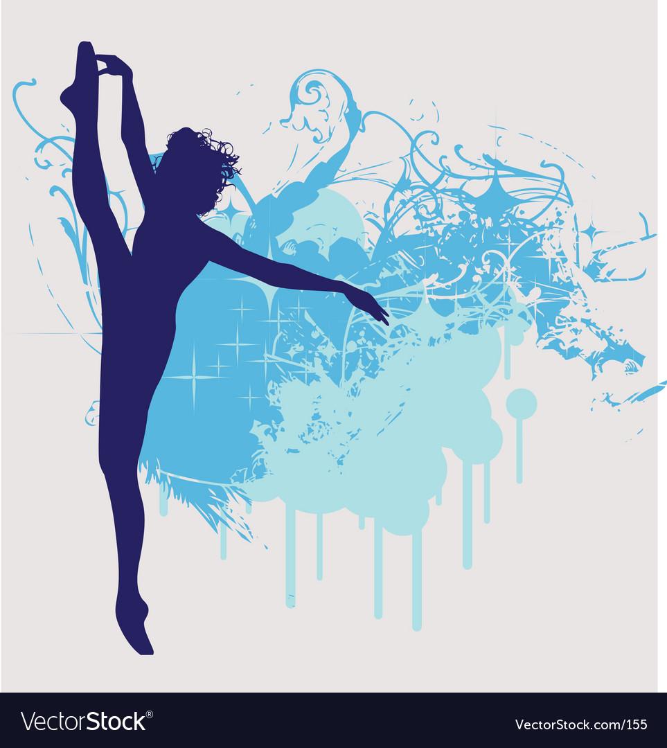 Ballet dancer leg up illustration vector image
