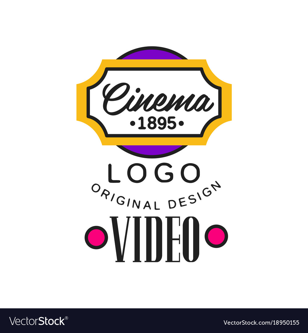 Colorful video company or movie business logo