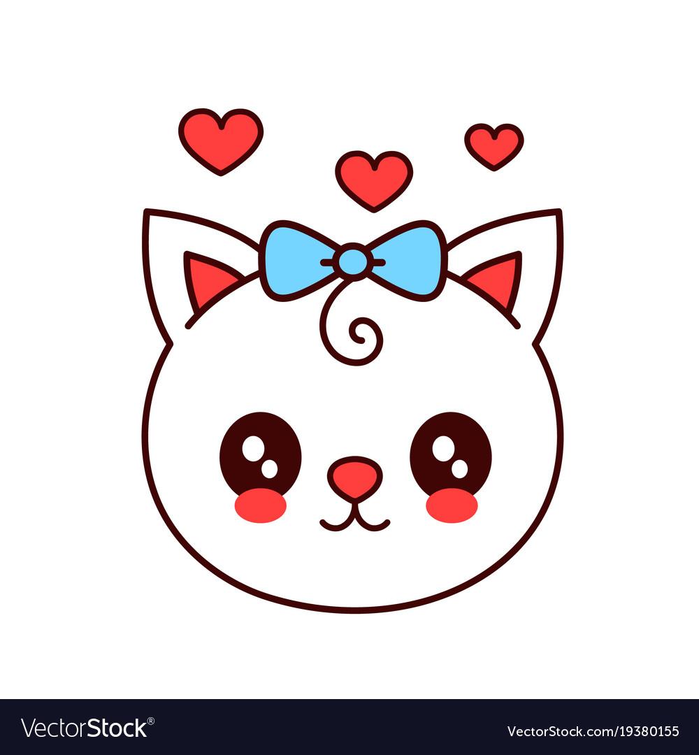 Cute smiling funny catkitten face