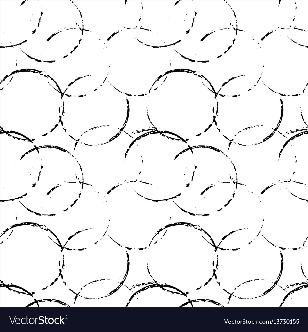 Grunge seamless pattern background with circles vector image