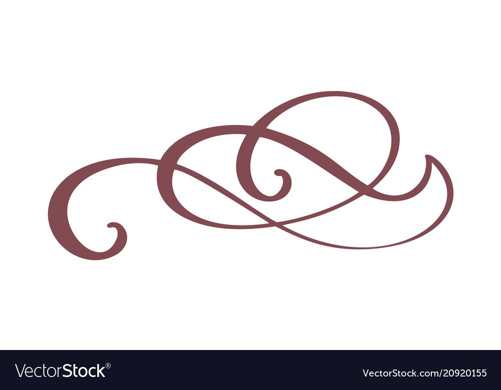 Hand drawn border flourish separator calligraphy