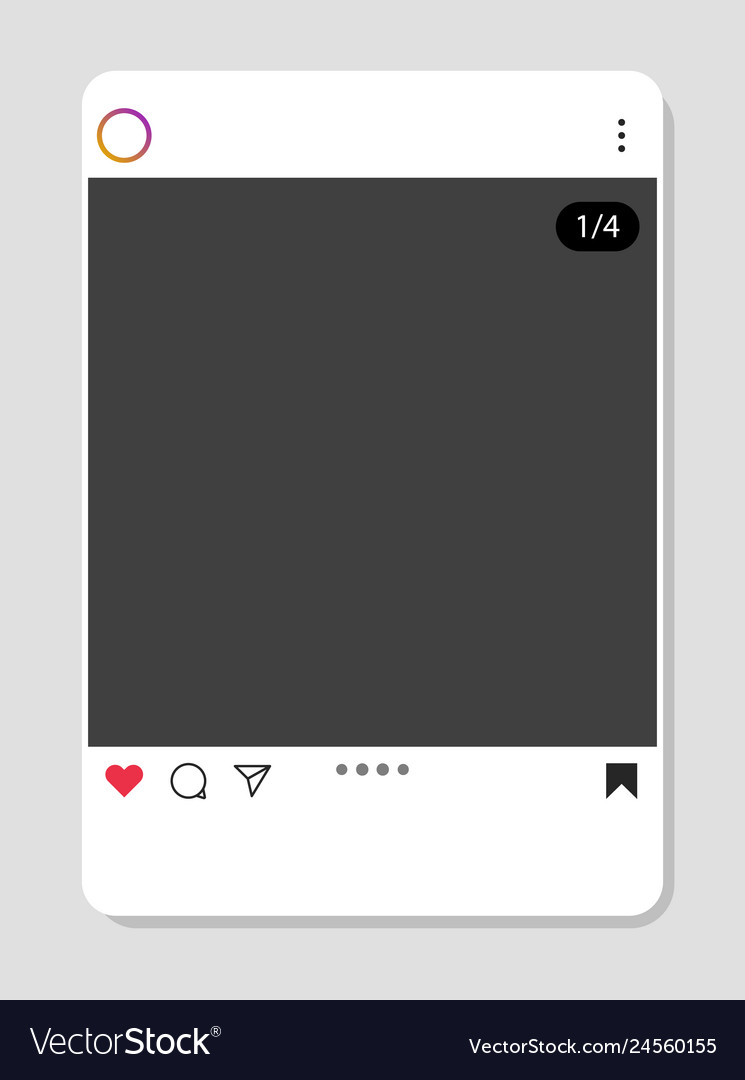 Social network interface frame with flat icons