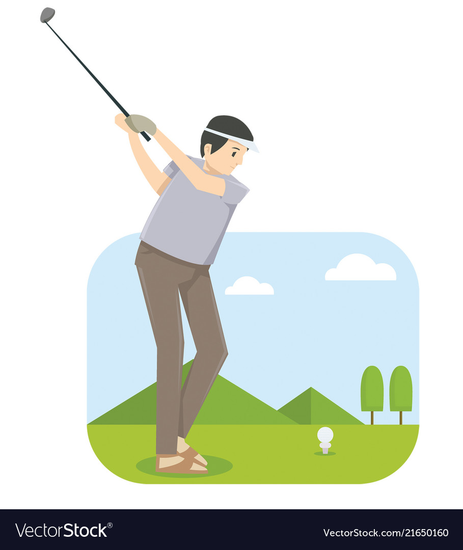 A man playing golf in golf competition
