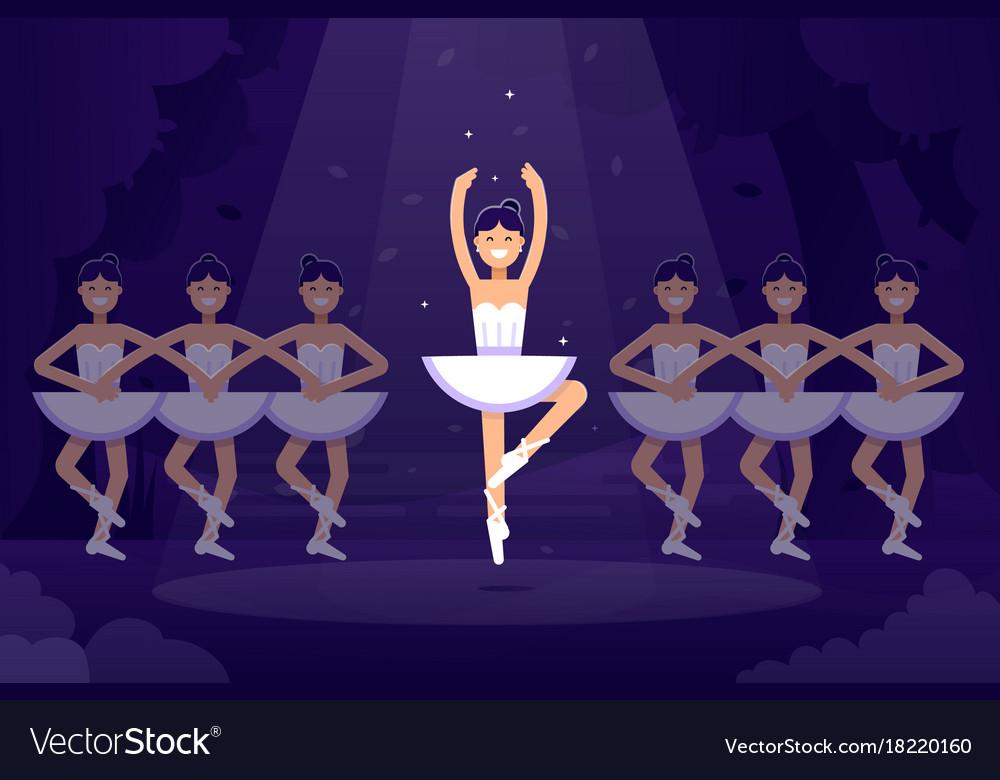 Ballet flat ballerinas in