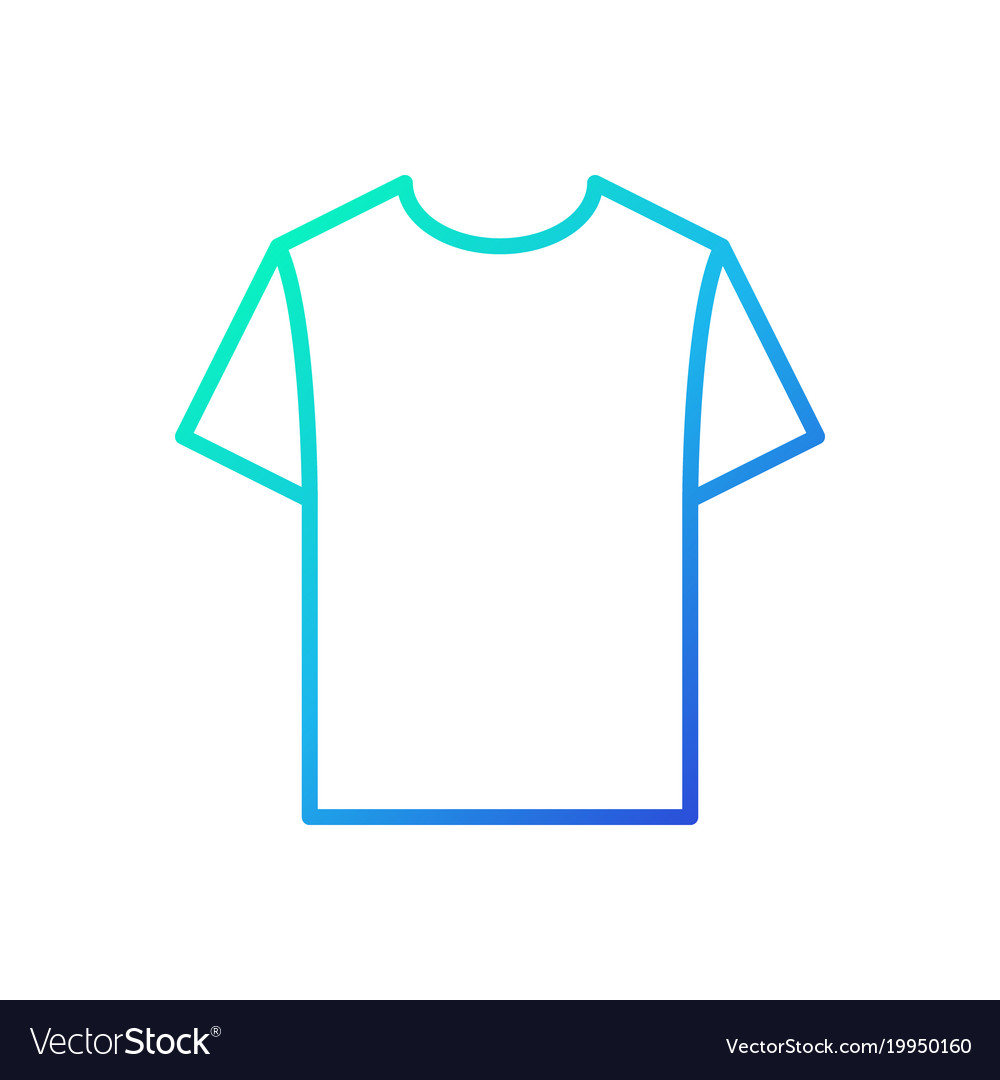 Blue tshirt linear icon t-shirt symbol