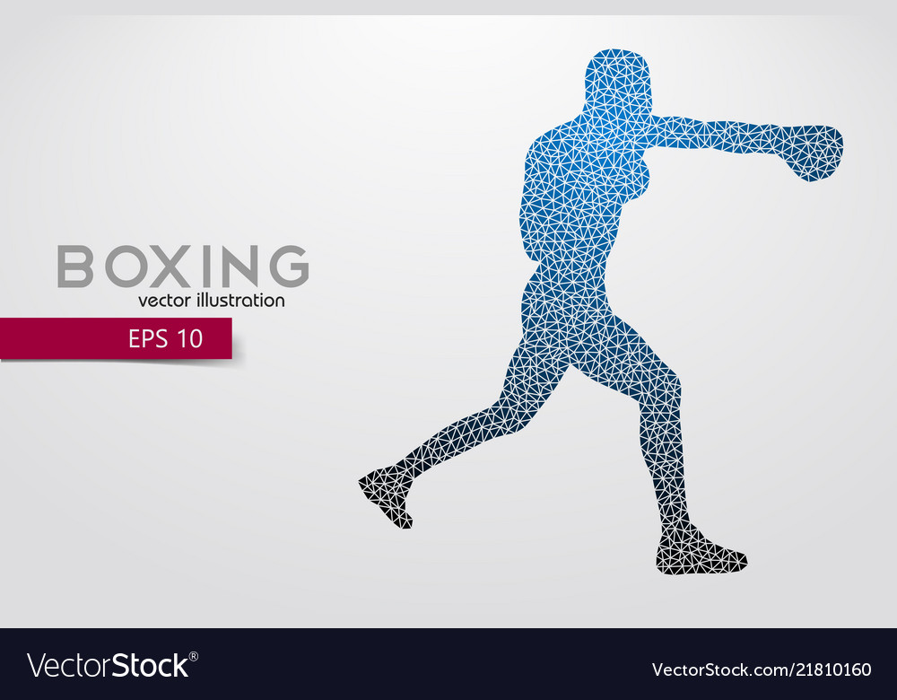Boxing silhouette boxing