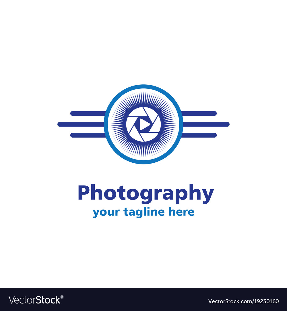 Camera sun photography business logo