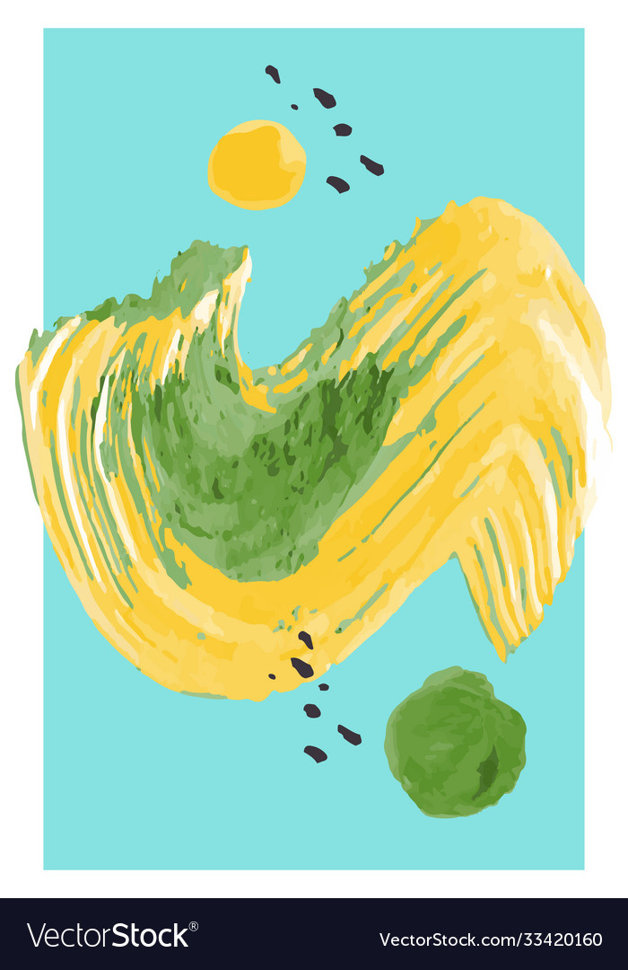 Creative minimalist hand painted abstract