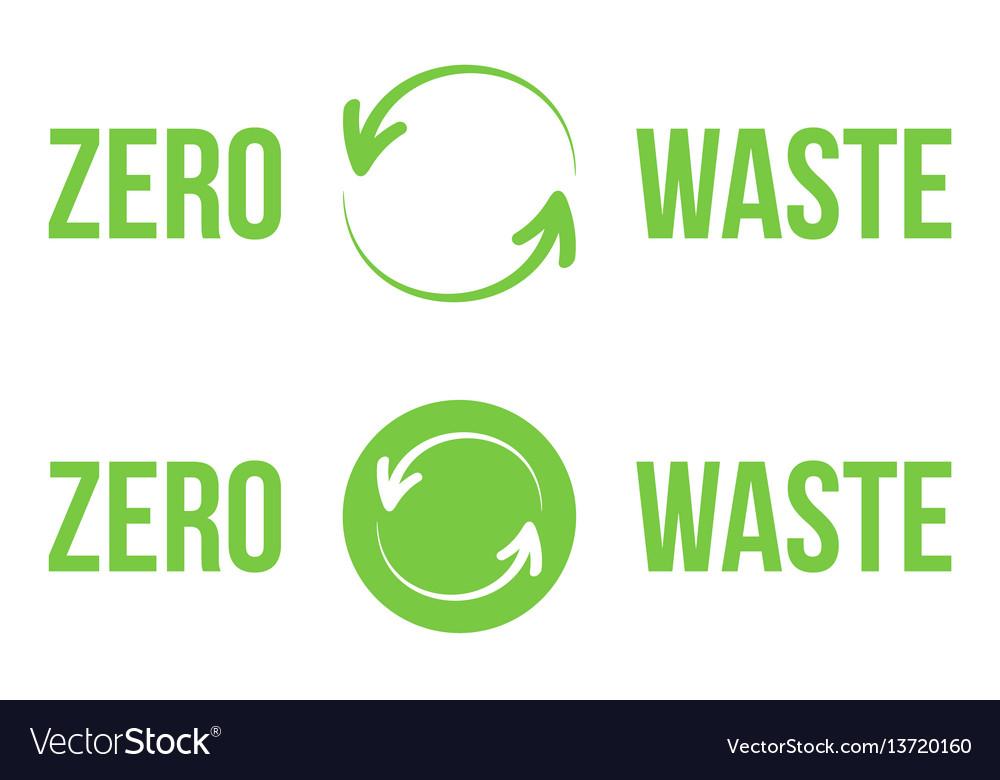 Green zero waste heading logos design elements