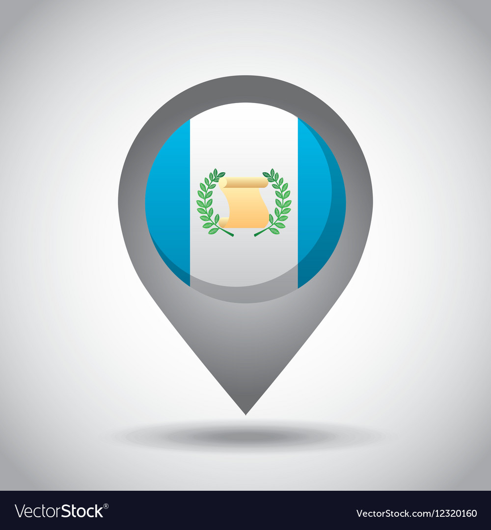 Guatemala flag pin vector image
