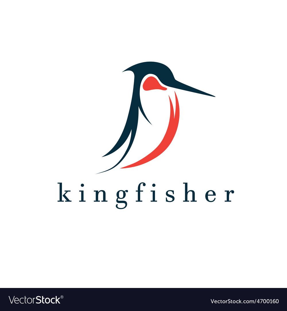 Kingfisher Bird Design Template Royalty Free Vector Image