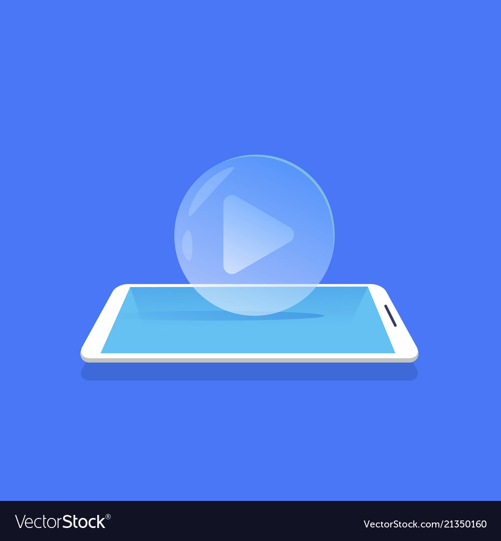Video player icon media streaming mobile
