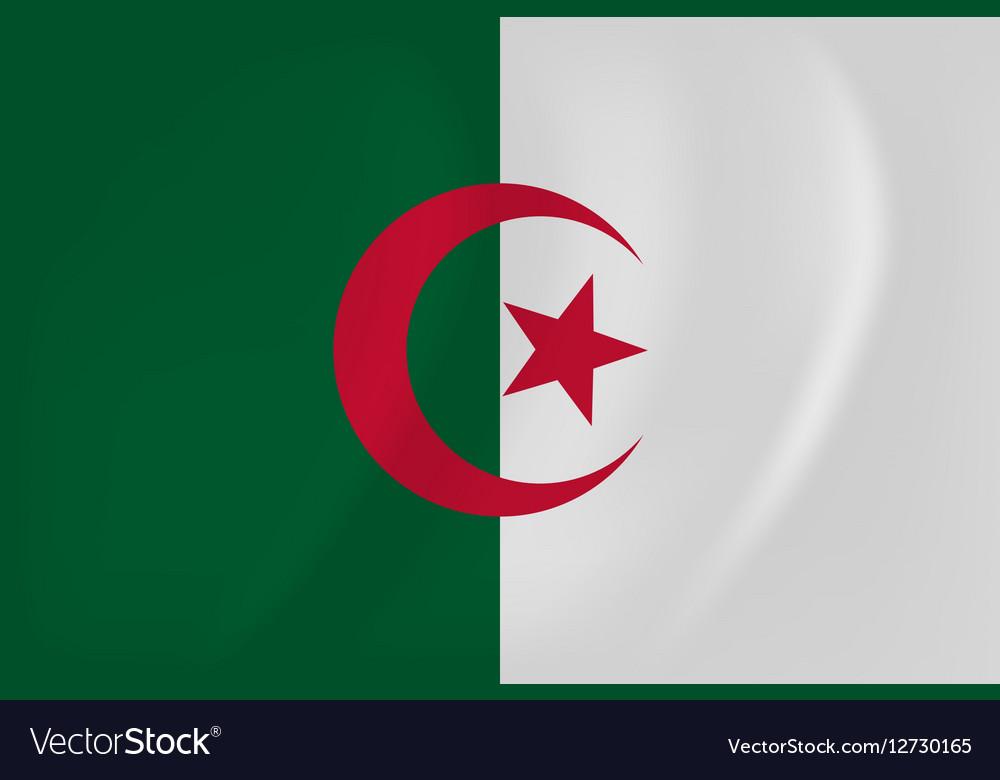 Algeria waving flag