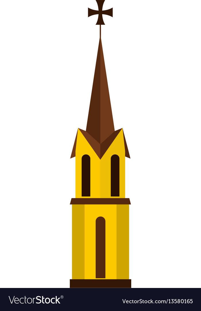 Church icon flat style