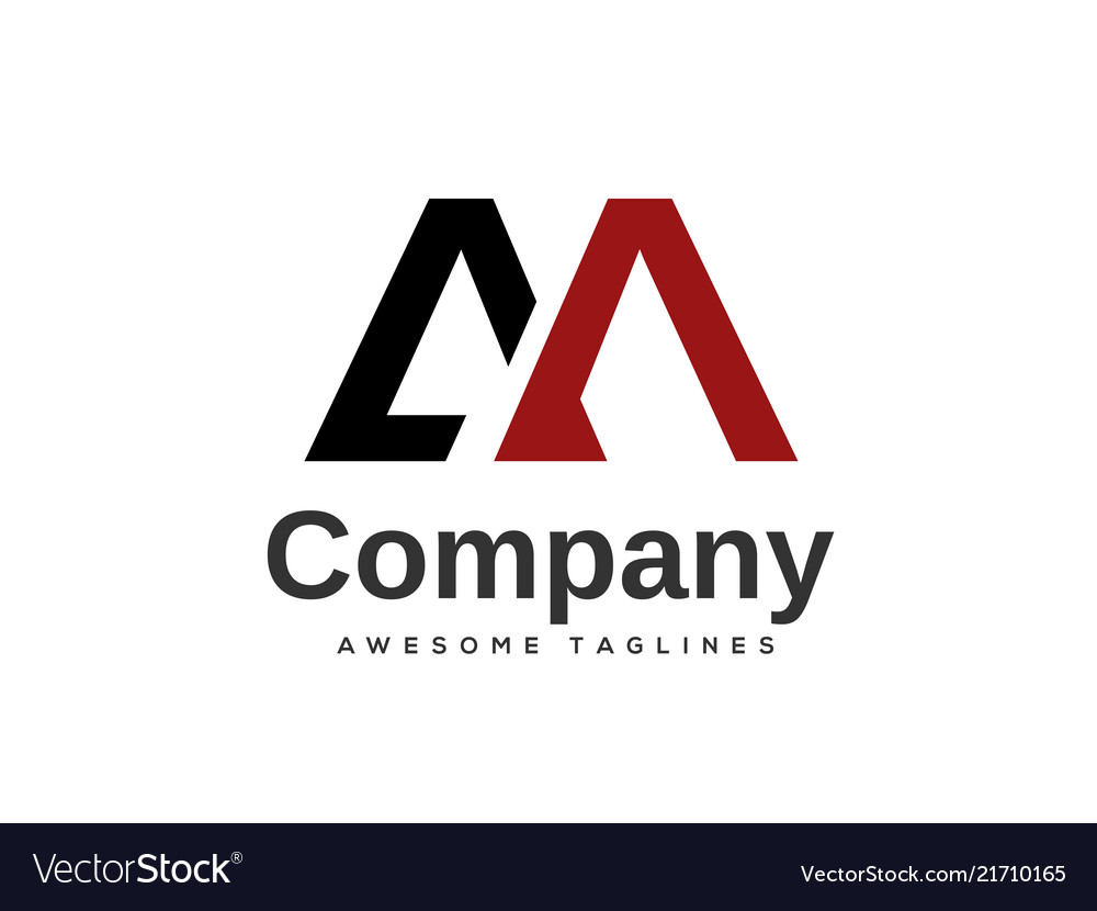 Creative letter am logo design template elements