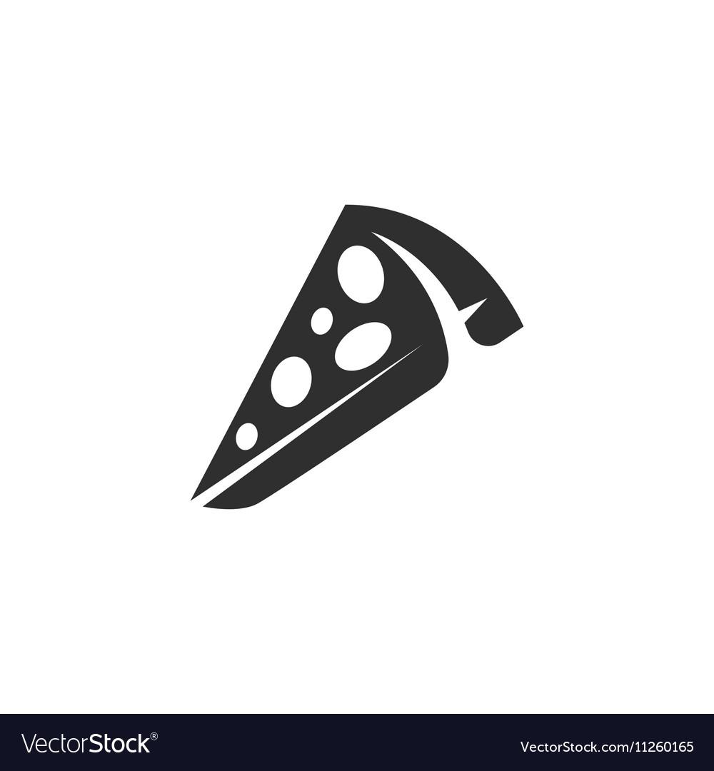 Pizza Icon logo on white background vector image
