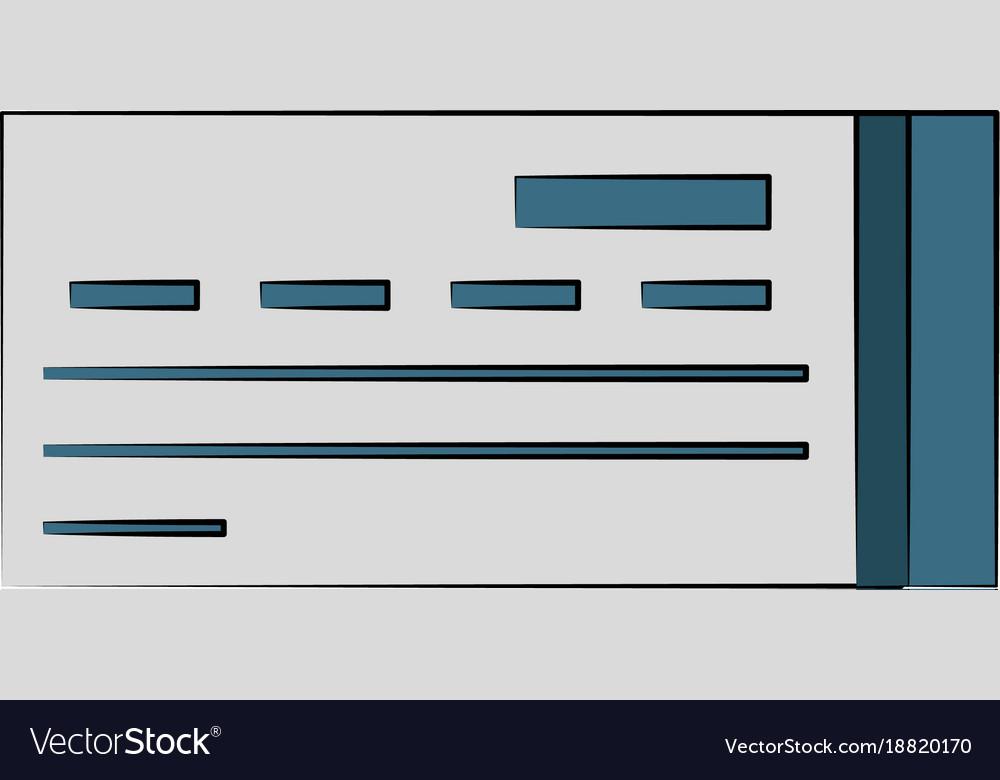 Bank Check Symbol Royalty Free Vector Image Vectorstock