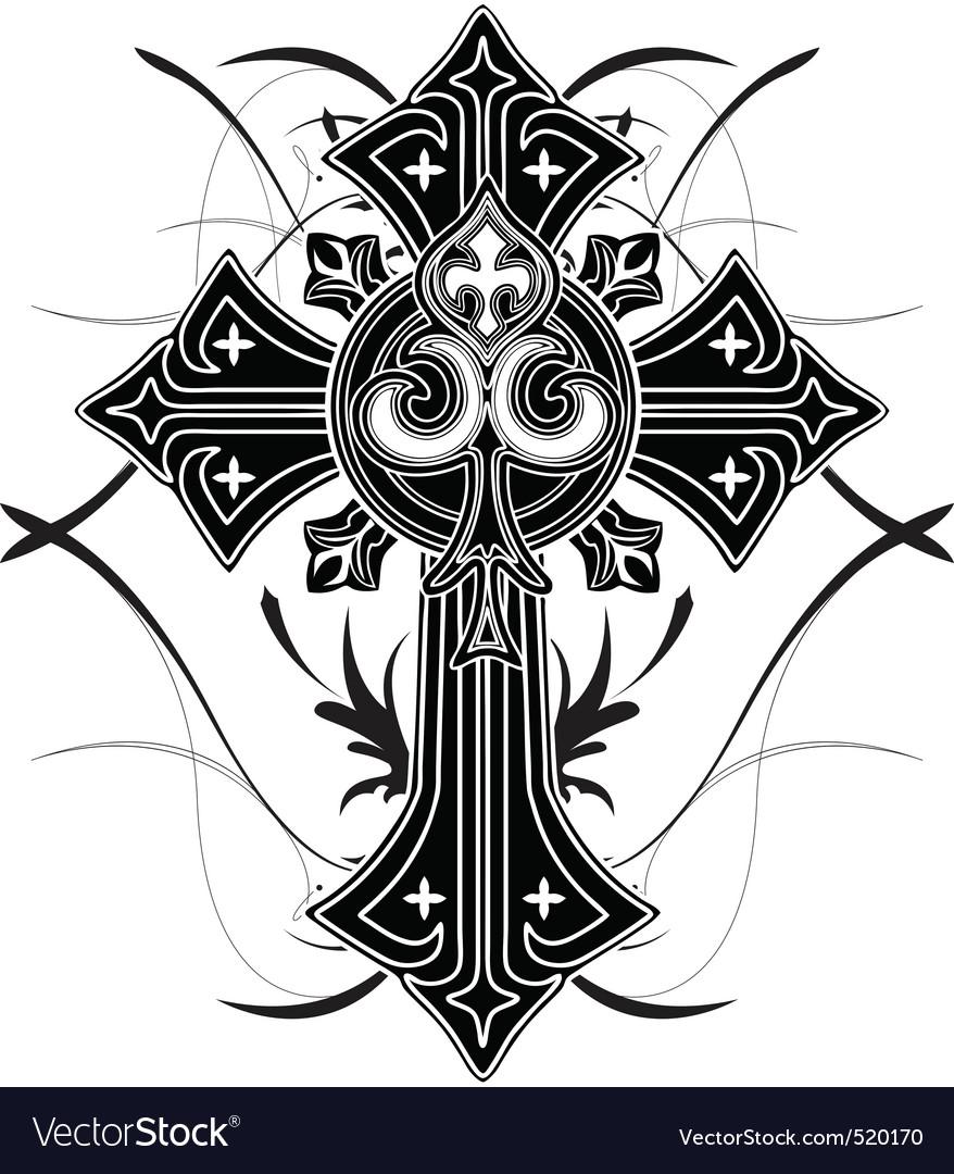 Cross4 vector image