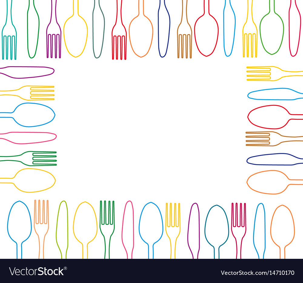 Cutlery graphic design vector image