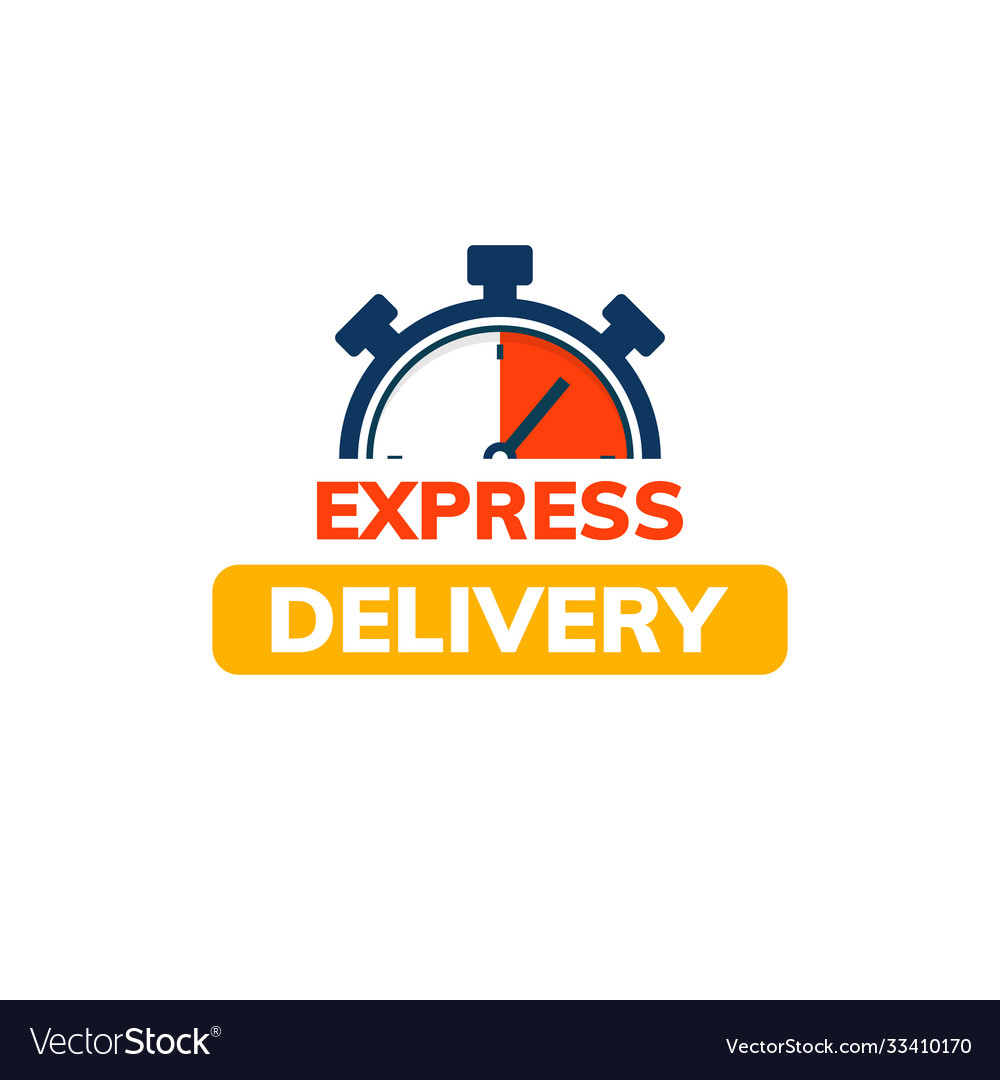 Express delivery service logo fast time delivery