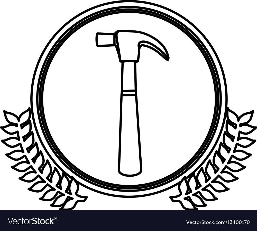 Figure symbol hammer icon stock vector image