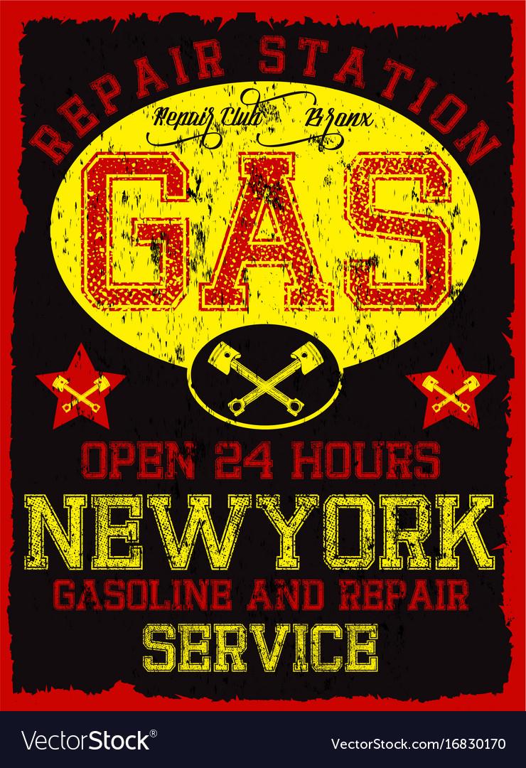 Garage repair service print for t shirt in custom