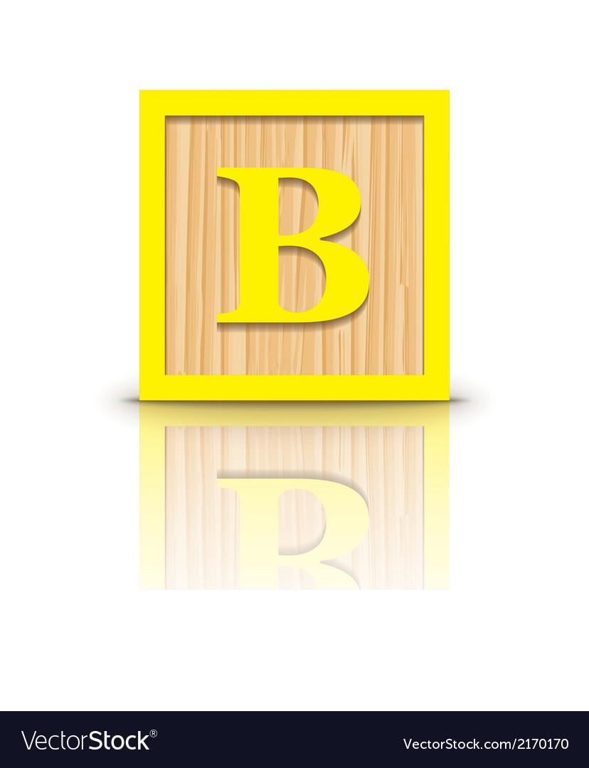Letter B wooden alphabet block