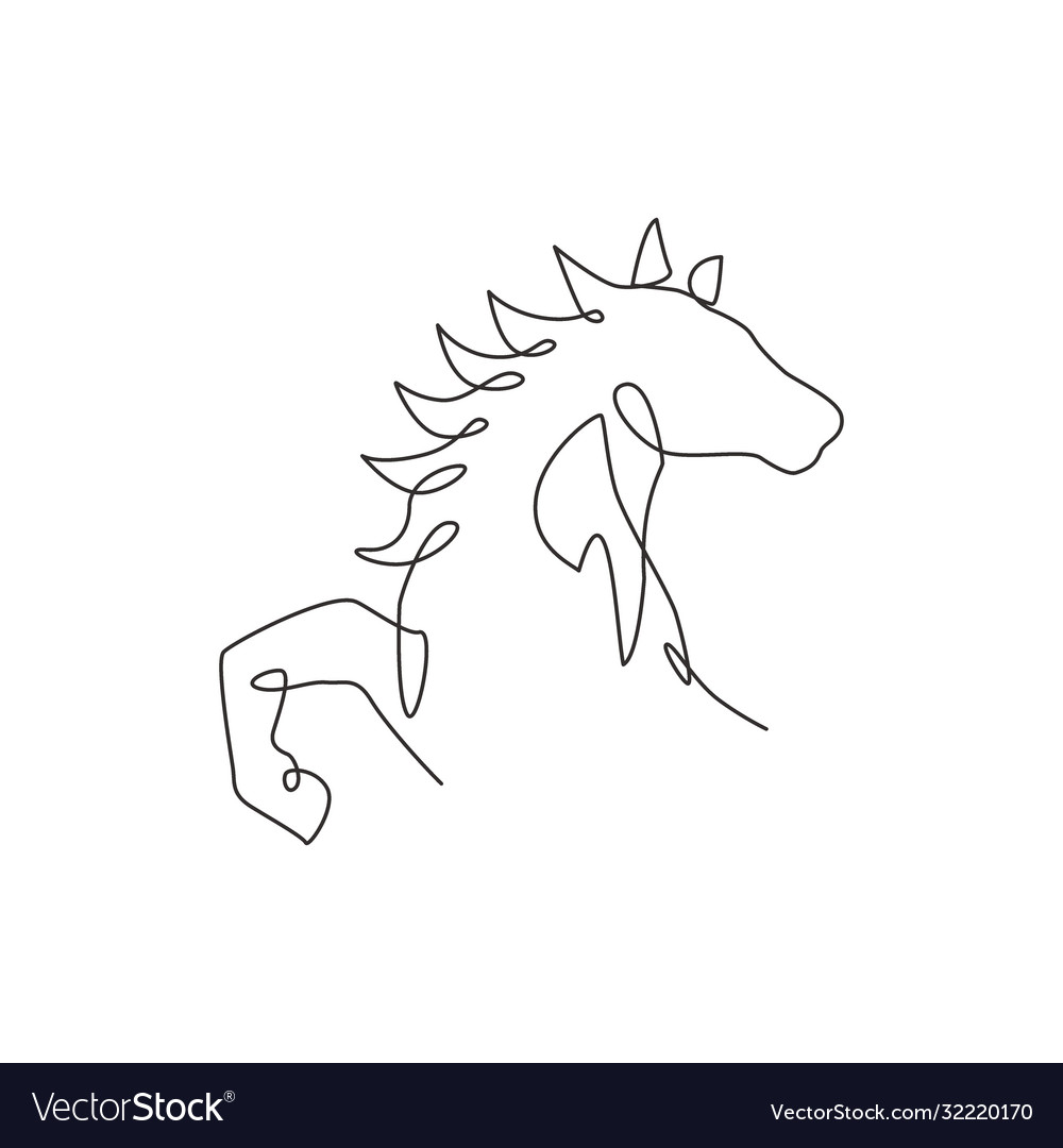 Horse Head Single Line Drawing Vector Images 91