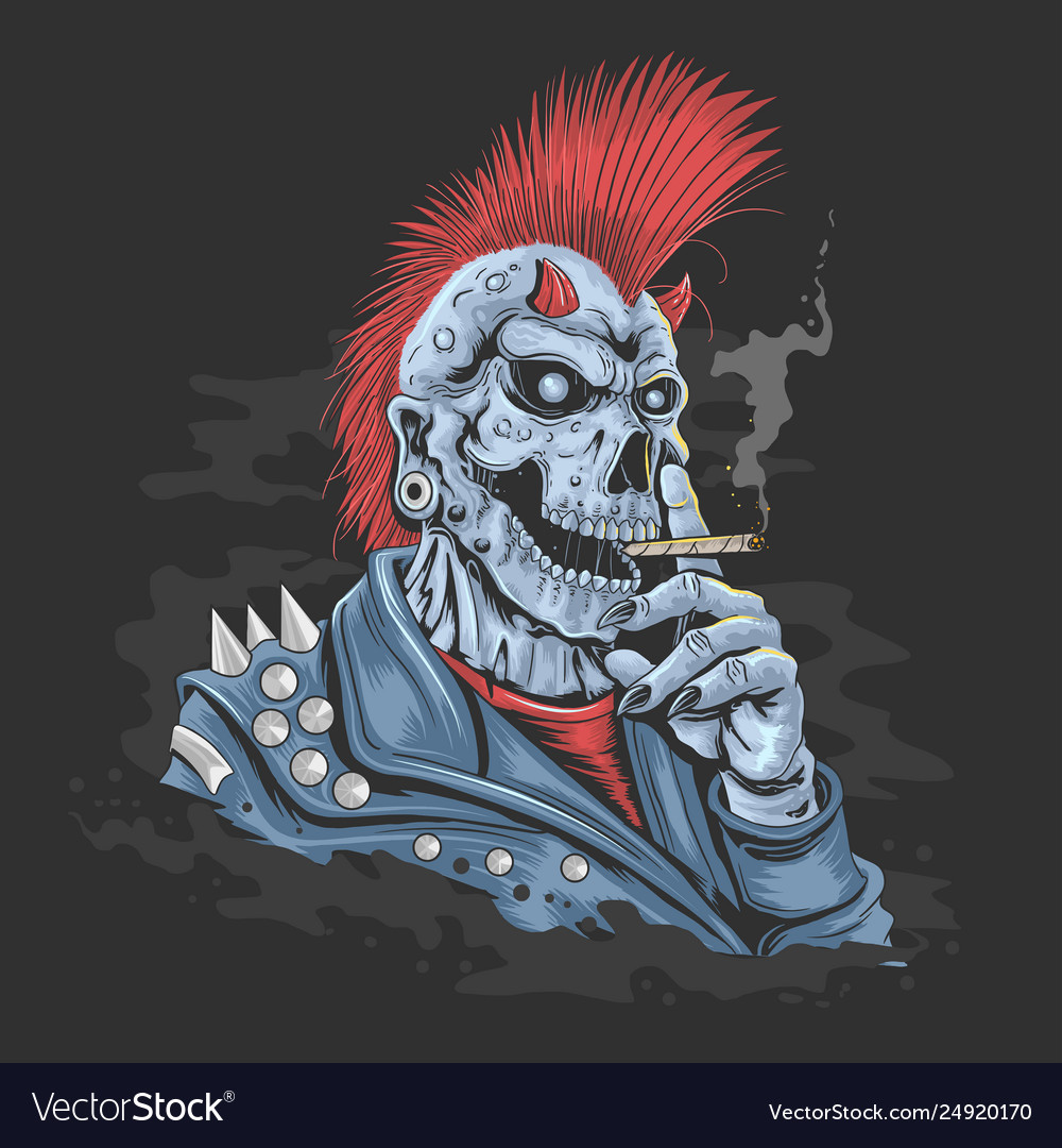 Punk skull jacket rock