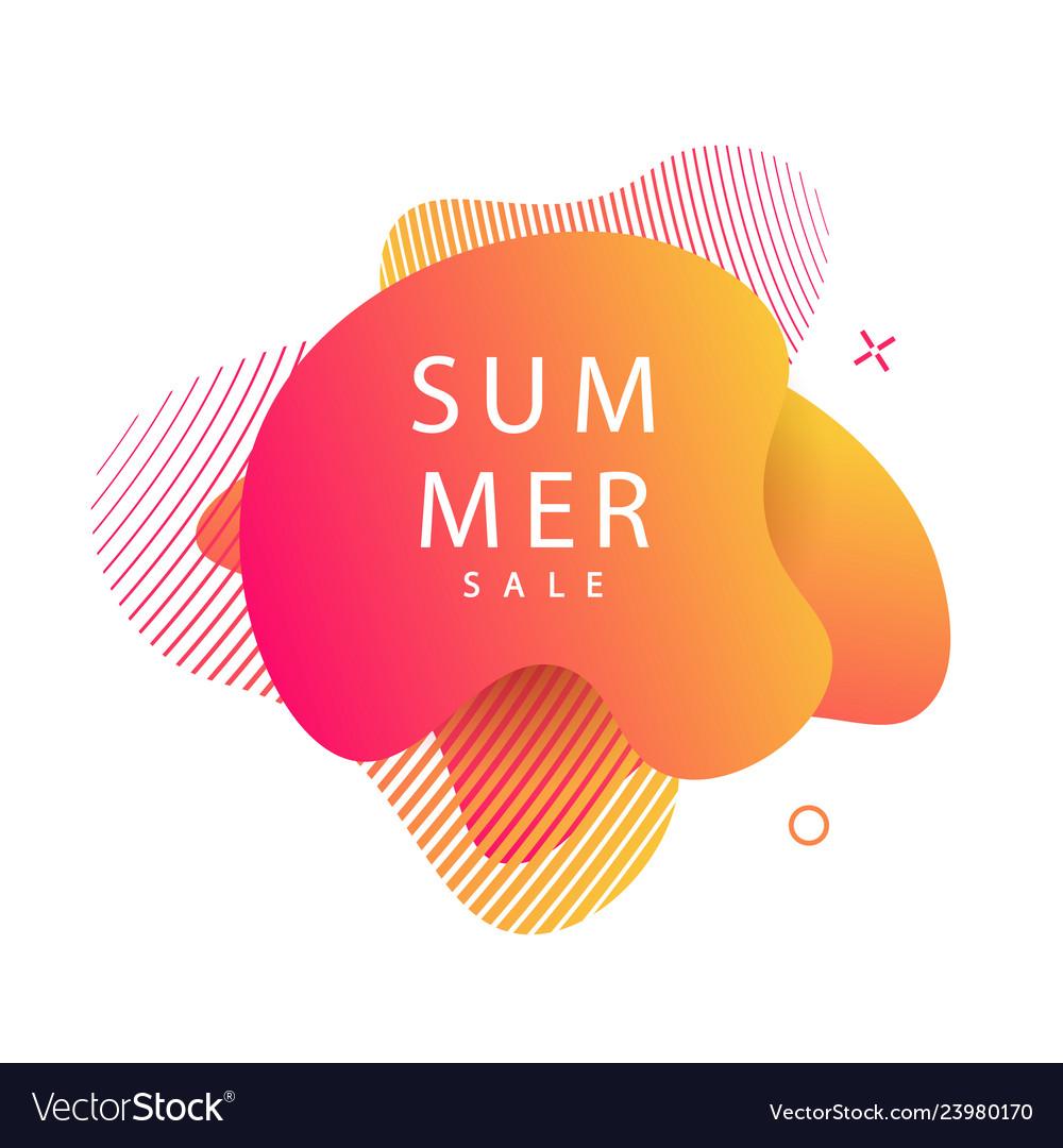 Summer modern futuristic gradient banner