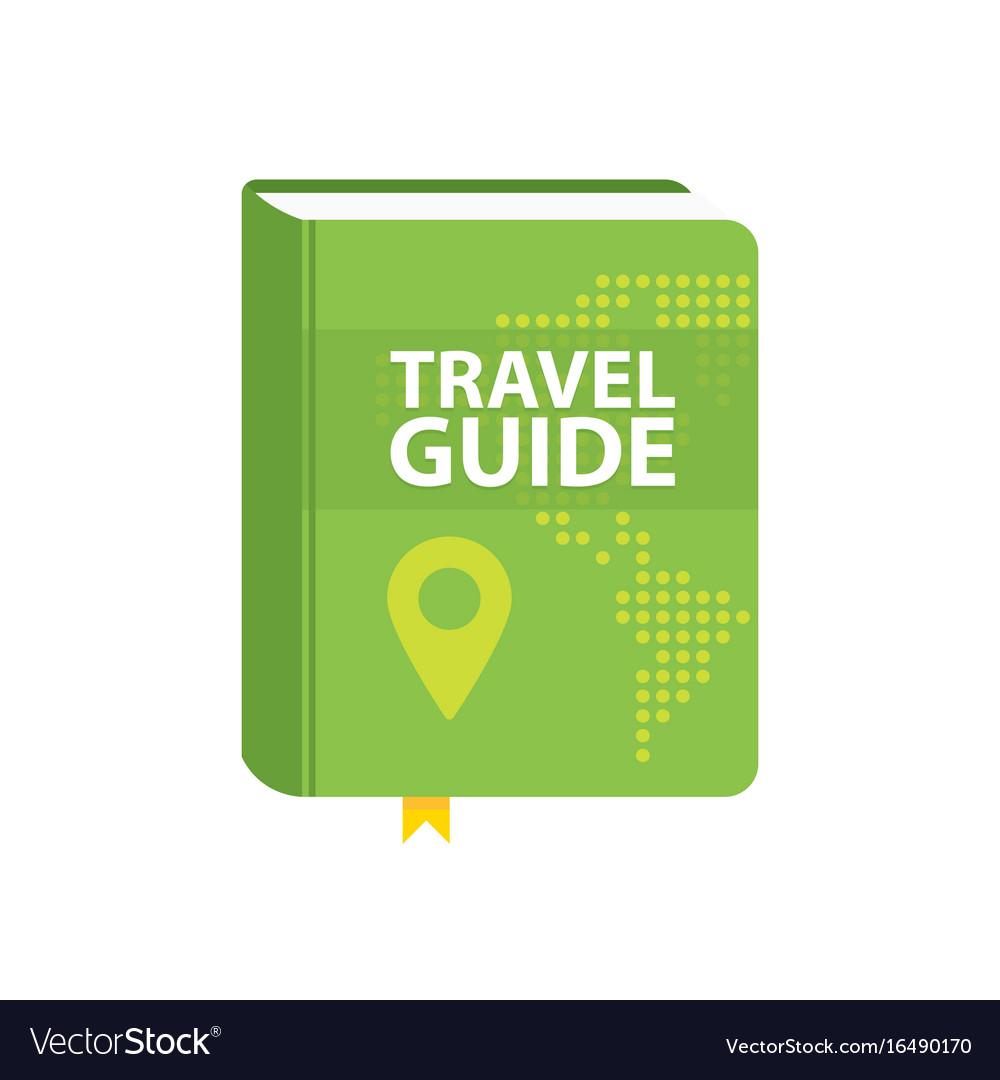 Travel guide book icon world map and pin in cover vector image gumiabroncs Choice Image