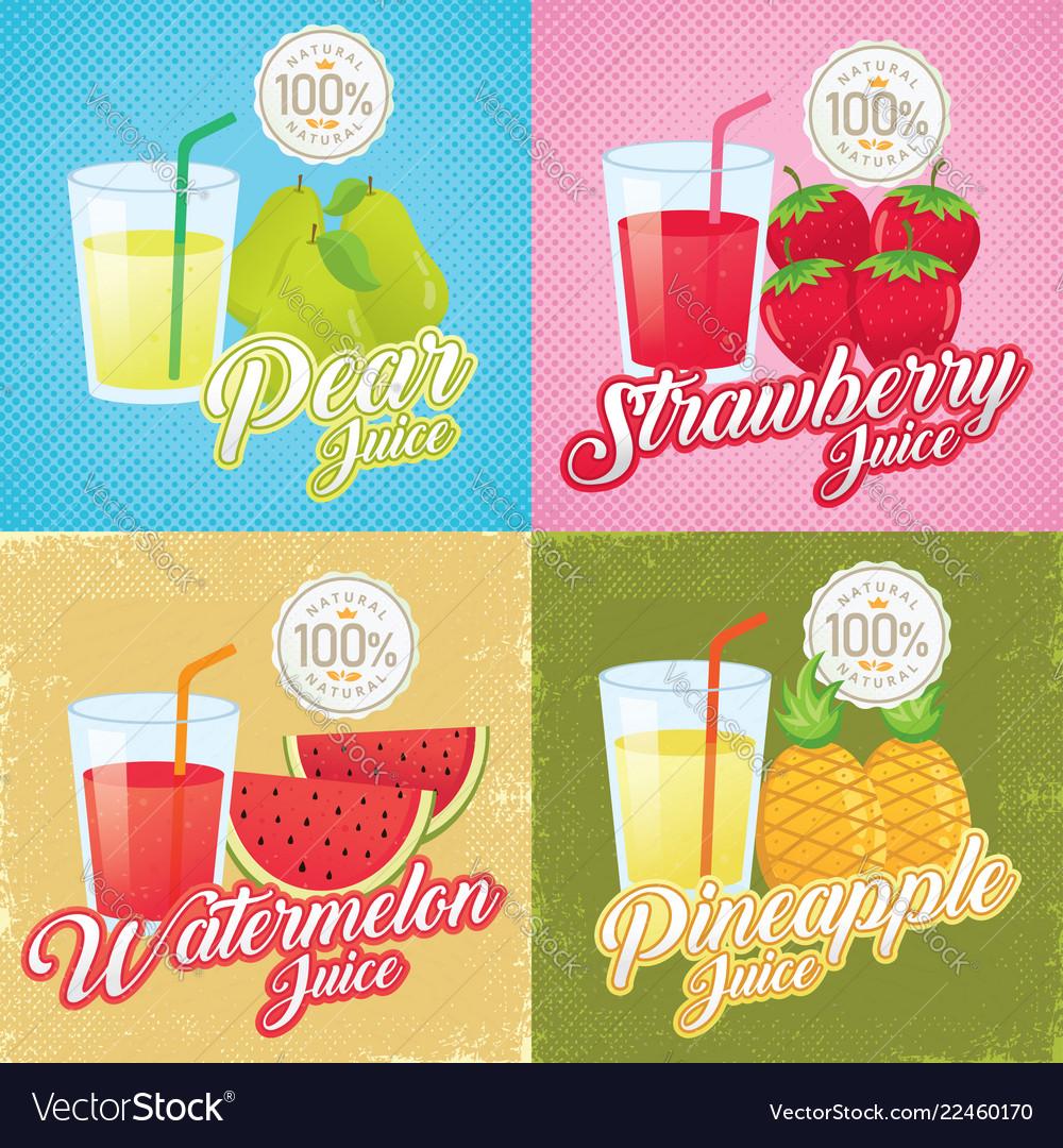 Vintage fruit juice