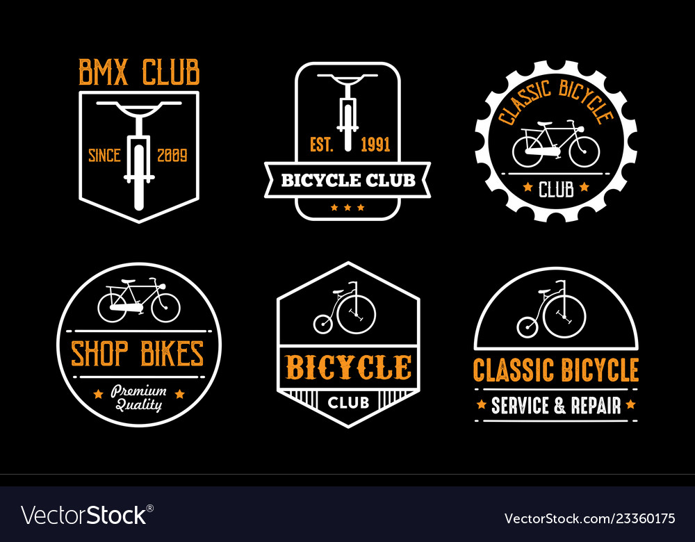 Bicycle badge and logo good for print