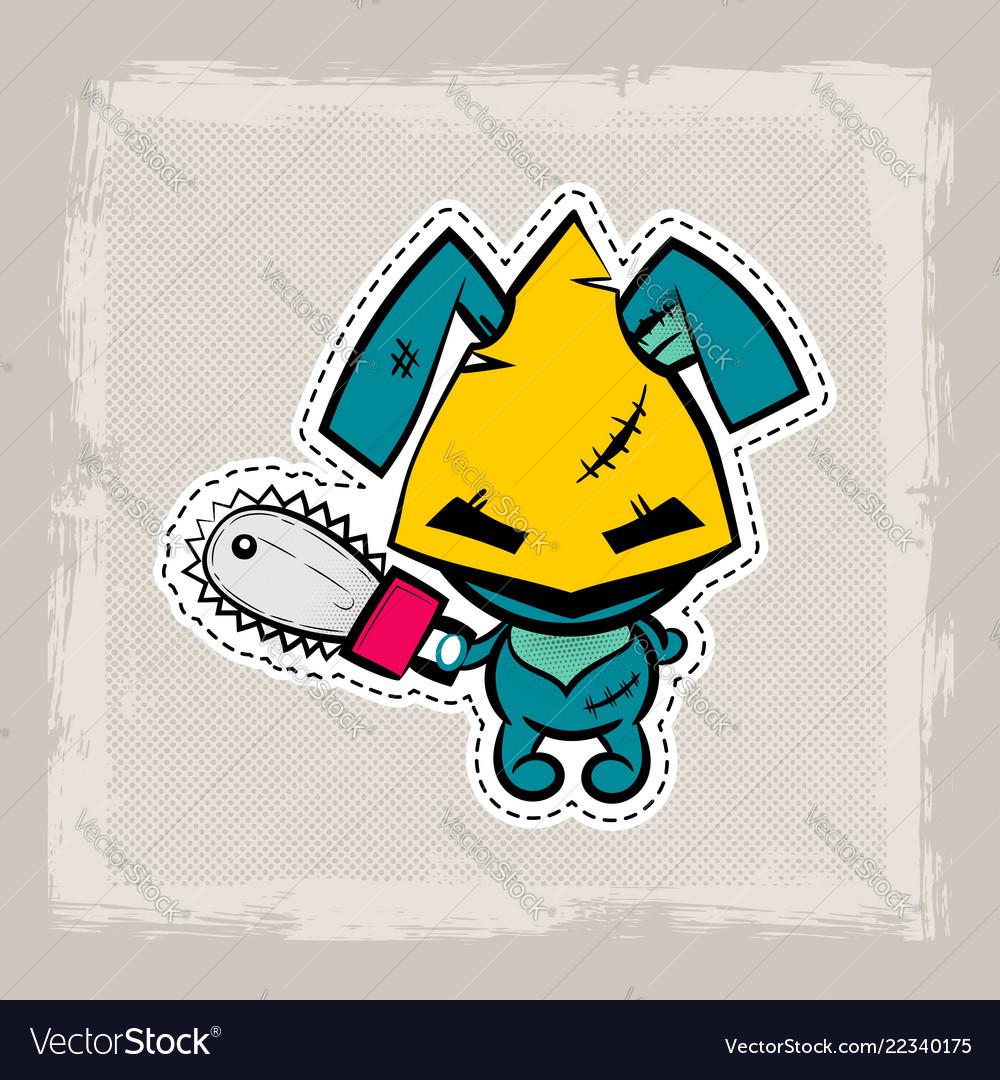 Halloween stitch bunny rabbit zombie voodoo doll