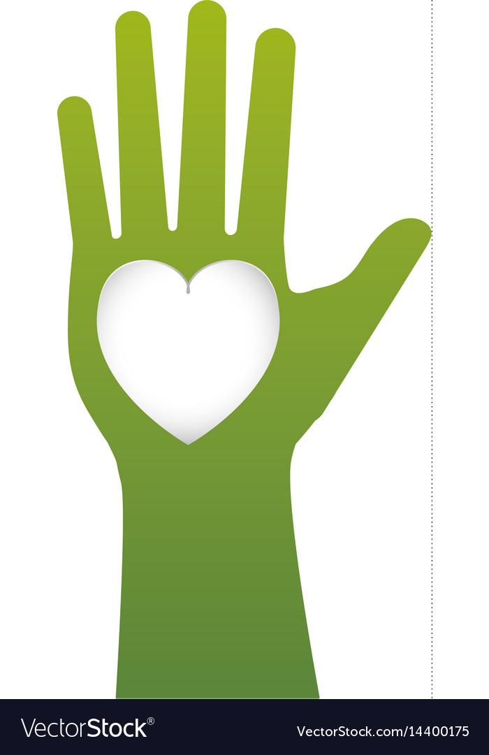 Human hand up symbol