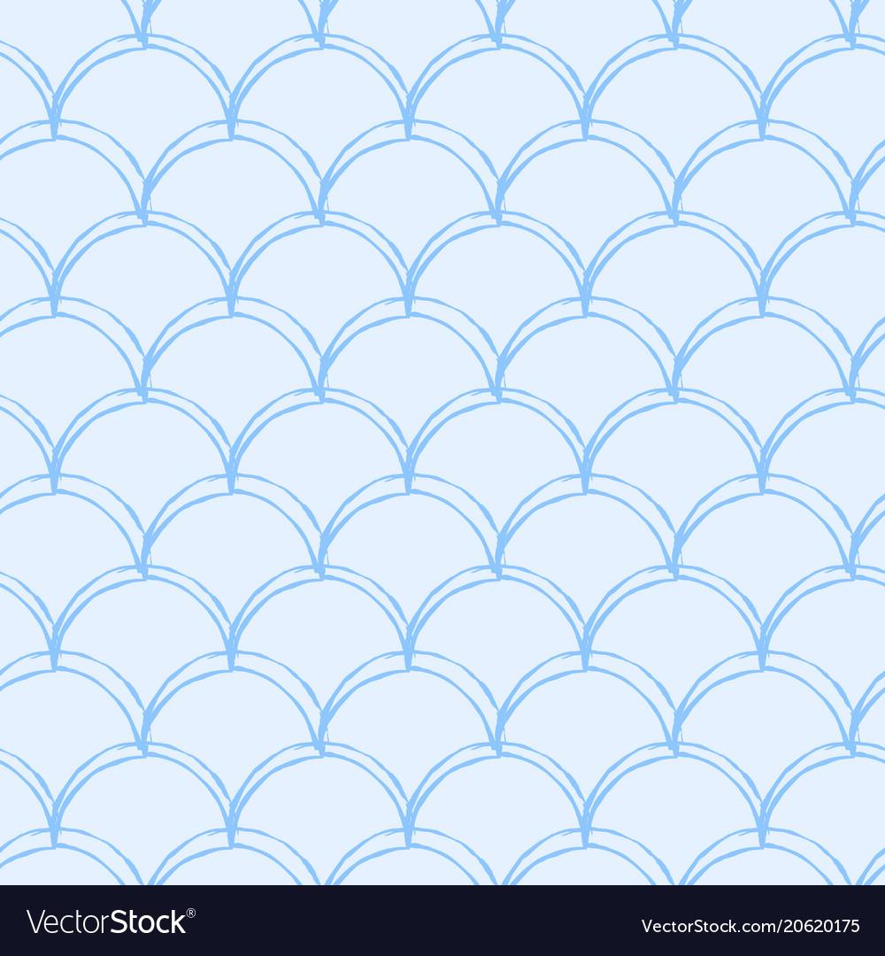 Mermaid tail seamless pattern